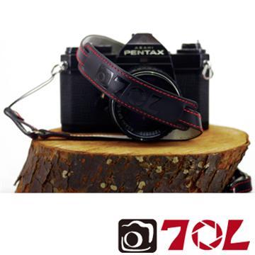 70L SWL1216真皮彩色相機背帶-尊爵黑紅(SWL1216尊爵黑紅)