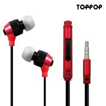 TOPPOP FUN音控立體聲耳機麥克風(紅黑)(TP-12100901)