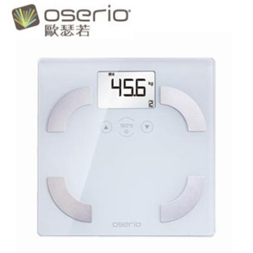 oserio玻璃體重體脂計(FLG-351W(白))