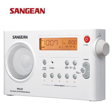 SANGEAN 二波段充電式收音機  PR-D7(白)(PR-D7(白))