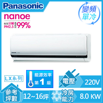 Panasonic ECO NAVI 一對一變頻單冷空調CS-LX80A2(CU-LX80CA2(室外供電))