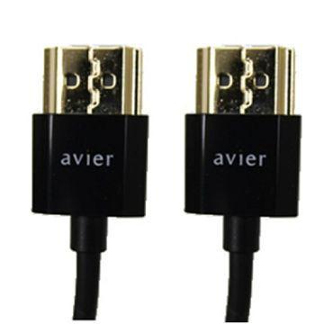 Avier 1.4版極細標準型HDMI 2m附轉接頭