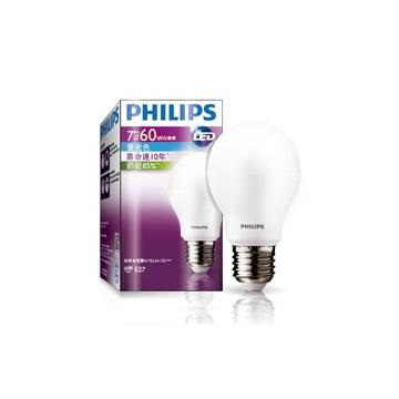 飛利浦LED球型燈泡7-60瓦白光(120V)(929000217115)
