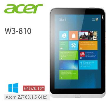 ACER 8吋Win8掌上型電腦(W3-810-27602G)