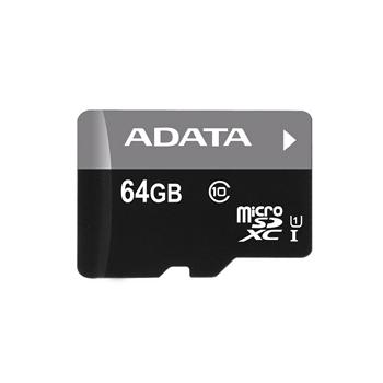【U1】威剛 Micro SD C10 64G記憶卡-含轉卡(AD64GTFC10U1)