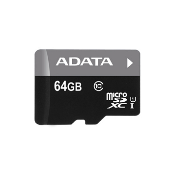 【U1】威剛 Micro SD C10 64G記憶卡-含轉卡(AD64GTFC10U1) | 快3網路商城~燦坤實體守護