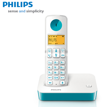 【福利品】 PHILIPS多彩數位無線電話D2001WT(D2001WT)