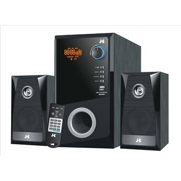 【福利品】JS 藍牙無線/USB/SD+FM玩家首選三件式喇叭