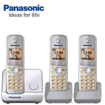 Panasonic中文顯示三機數位無線電話KX-TG6713TW(KX-TG6713TW)
