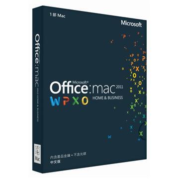 Office Mac 2011家用暨中小企業中文版PKC(C OFF MAC2011 H/B M)