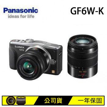 【福利品】 Panasonic GF6W可交換式鏡頭相機(雙鏡組)(DMC-GF6W-K(雙鏡組))