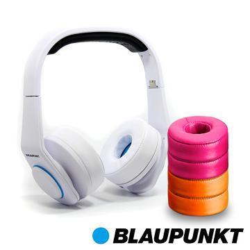 藍點 Style高音質耳罩式耳機-白(Style-W)