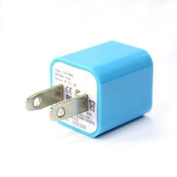 ATake AC電源轉USB電源轉接頭(藍)(SAC-USB1A01-BL)