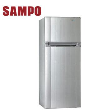 聲寶 340公升1級雙門冰箱(SR-L34G(S2)璀璨銀)