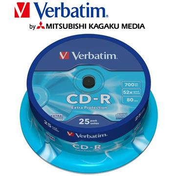 威寶Verbatim Spindle 52X CD-R/25片桶裝(CD-R/52X/25片桶裝)