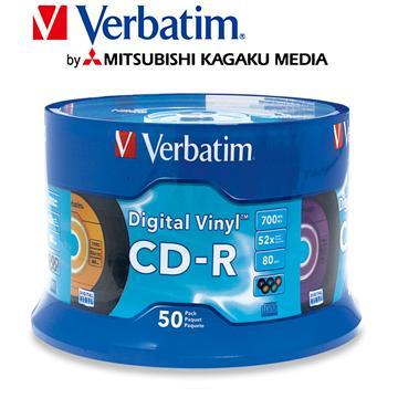 威寶Verbatim Color 52X CD-R/50片桶裝(CD-R/52X/50片桶裝)