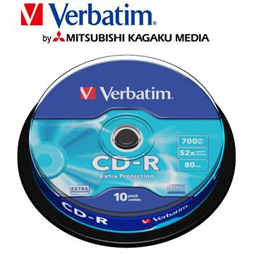 威寶Verbatim Spindle 52X CD-R/10片桶裝(CD-R/52X/10片桶裝)