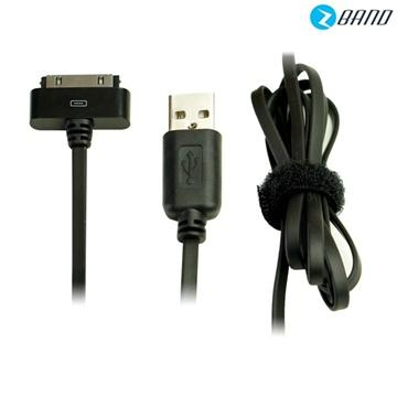 【1M】Platinum iPhone4/iPad扁線傳輸充電線-黑(4023425)