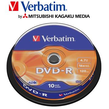 威寶Verbatim Spindle 16X DVD~R 10片桶裝