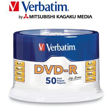 威寶Verbatim Spindle 16X DVD-R/50片桶裝(DVD-R/16X/50片桶裝)