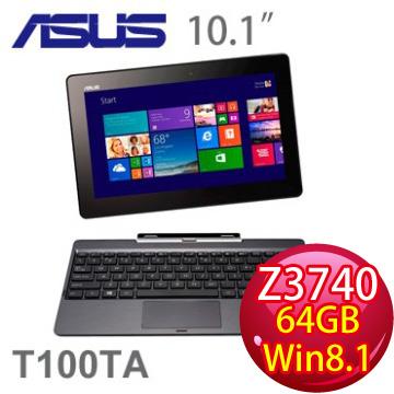 華碩 四核輕薄觸控平板筆電 T100(T100TA-0041KZ3740)