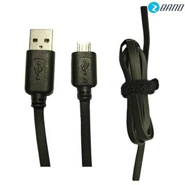 Platinum Micro USB扁平傳輸充電線-黑(Micro USB)
