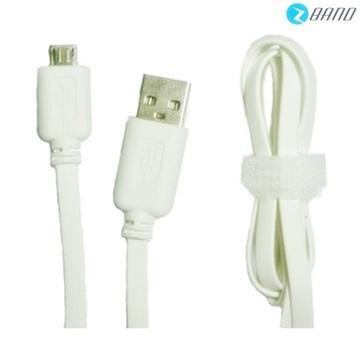 Platinum Micro USB扁平傳輸充電線-白(Micro USB)