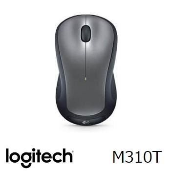羅技 無線滑鼠 M310t-銀黑(910-003990)