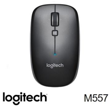 羅技 Logitech M557 藍牙滑鼠 - 鐵灰黑