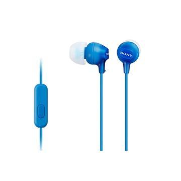SONY MDR-EX15AP入耳式耳機(藍)(MDREX15AP/LICE)