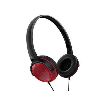 Pioneer SE-MJ502迷你耳罩式耳機-紅(SE-MJ502-R)