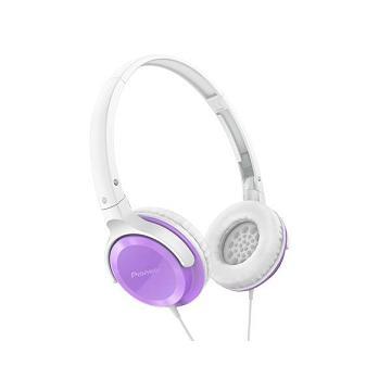 Pioneer SE-MJ502迷你耳罩式耳機-紫(SE-MJ502-V)