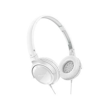 Pioneer SE-MJ502迷你耳罩式耳機-白(SE-MJ502-W)