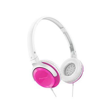 Pioneer SE-MJ502迷你耳罩式耳機-粉(SE-MJ502-P)