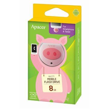 Apacer AH171 8G粉紅豬隨身碟(AH171粉紅豬8GB)