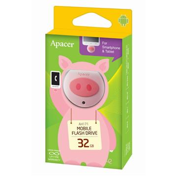 【32G】Apacer AH171粉紅豬隨身碟(AH171粉紅豬32GB)