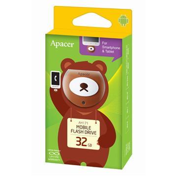 【32G】Apacer AH171 蜂蜜熊隨身碟(AH171蜂蜜熊32GB)