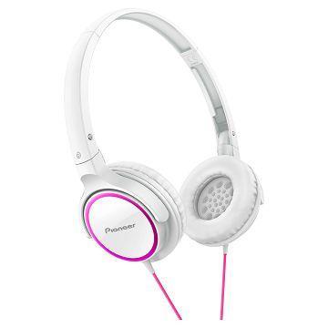 Pioneer SE-MJ512耳罩式耳機-桃紅+白(SE-MJ512-PW)