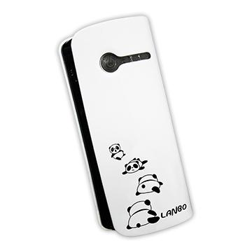 【6000mAh】LANBO 貓熊行動電源-白(0601-2HC-白色貓熊)