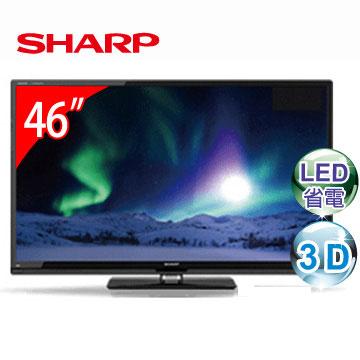 【福利品】 SHARP 46型3D LED液晶電視 LC-46W5T(LC-46W5T)