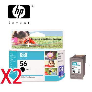HP 56號黑色墨匣*2顆()