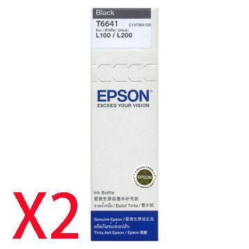 EPSON T66黑色墨水匣*2顆()