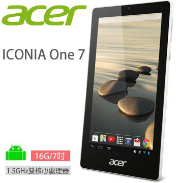 ACER ICONIA One 7 16G-WIFI 平板電腦 (白)(TD070VA1)