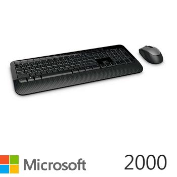 微軟無線滑鼠鍵盤組2000(M7J-00018)