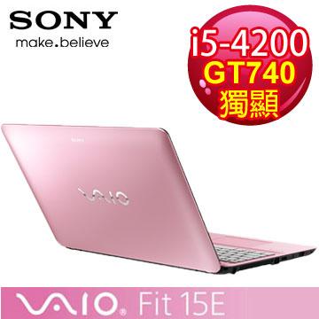【福利品】SONY VAIO 四代i5獨顯觸控筆電◆2014最新款(SVF15329CW/P)