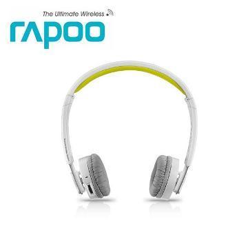 雷柏 H6080 藍芽無線摺疊耳機麥克風-黃(H6080黃)