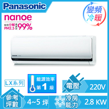 Panasonic ECO NAVI一對一變頻冷暖空調CU-LX28HA2(CU-LX28HA2(室外供電))