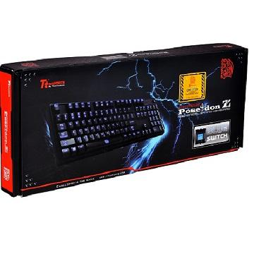曜越Poseidon Z背光機械式鍵盤(青軸) KB-PIZ-KLBLTC-01