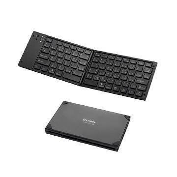 LEXKING手機平板專用藍牙3.0摺疊鍵盤-黑(BT-7268B)