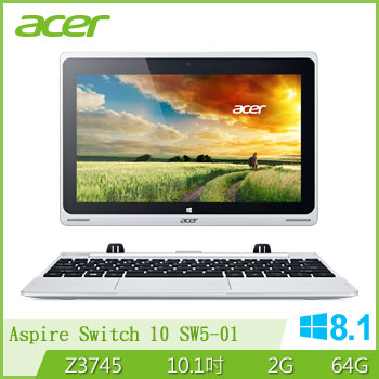 ACER 四核心變形平板筆電(Switch10-SW5-01)